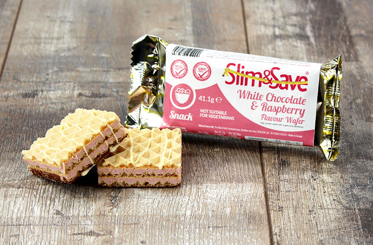 Slim and Save White Chocolate and Raspberry Wafers