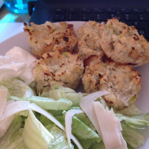 Chicken and spring onion muffins